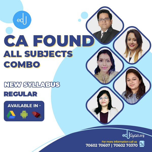 CA Foundation All Subjects Combo By SAH Academy