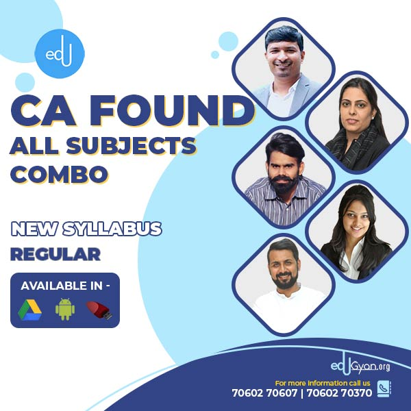 CA Foundation All Subjects Combo By Swapnil Patni Classes