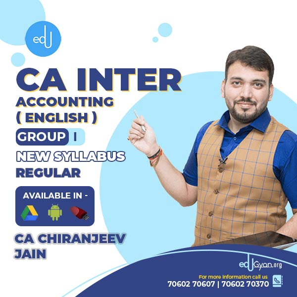CA Inter Accounting By CA Chiranjeev Jain (English)