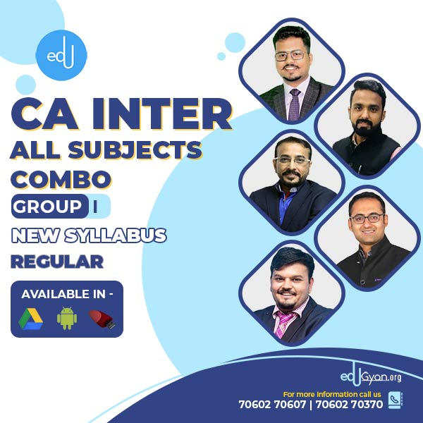 CA Inter Group- I Combo By V Smart Academy