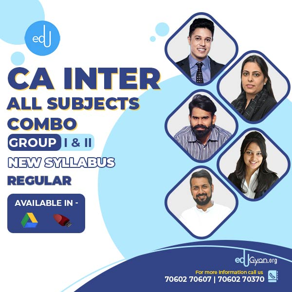 CA Inter Group- I & II Combo By Swapnil Patni Classes