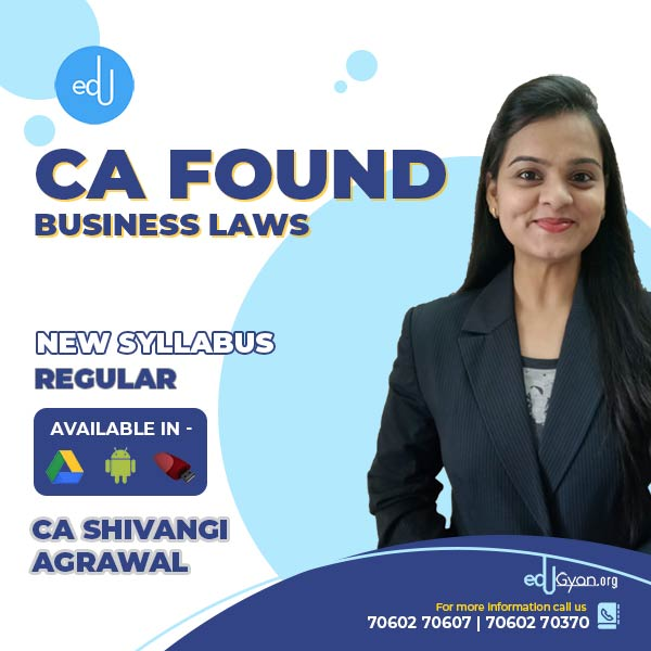 CA Foundation Business Laws Only By CA Shivangi Agrawal