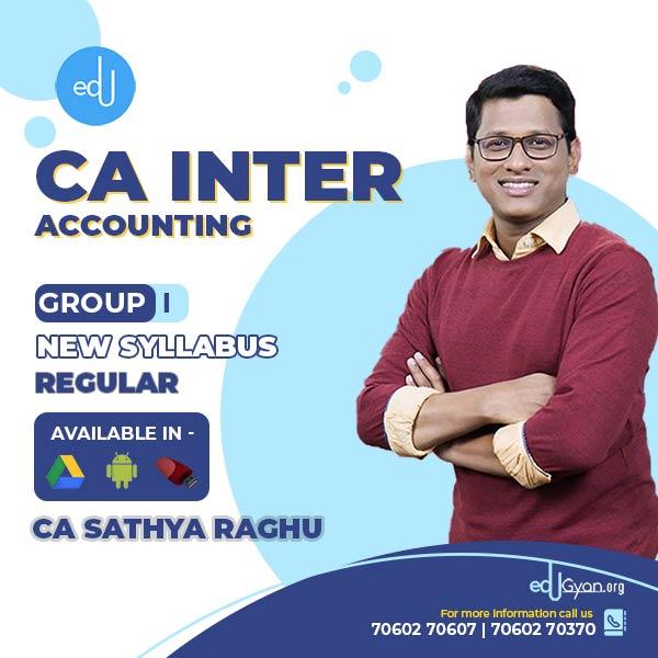CA Inter Accounting By CA Sathya Raghu