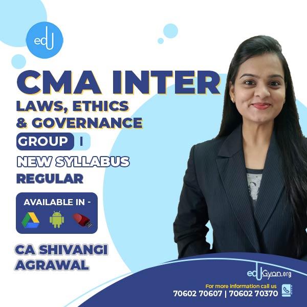 CMA Inter Laws, Ethics & Governance By CA Shivangi Agrawal