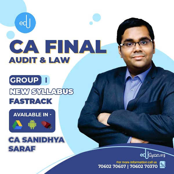 CA Final Audit & Law Combo By CA Sanidhya Saraf