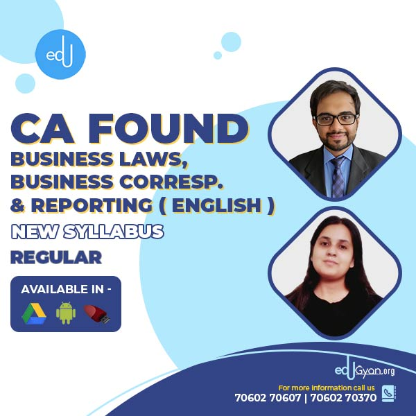 CA Foundation Business Laws & BCR By CA Punarvas & Prof Ritu (English)