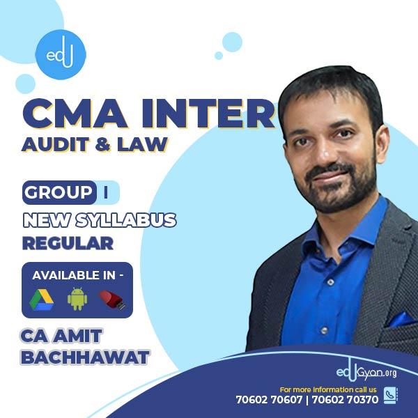 CMA Inter Laws & Audit Combo By CA Amit Bachhawat