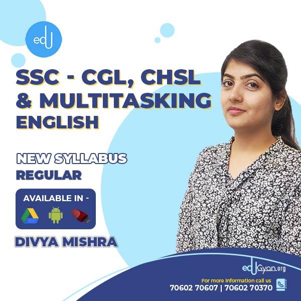 English for SSC - CGL, CHSL & Multitasking By Divya Mishra