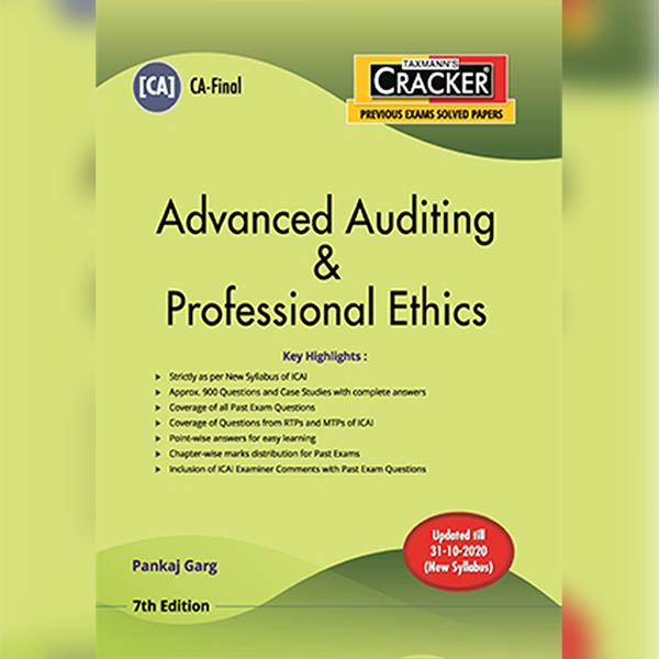 CA Final Advanced Auditing & Professional Ethics Cracker Book By CA Pankaj Garg