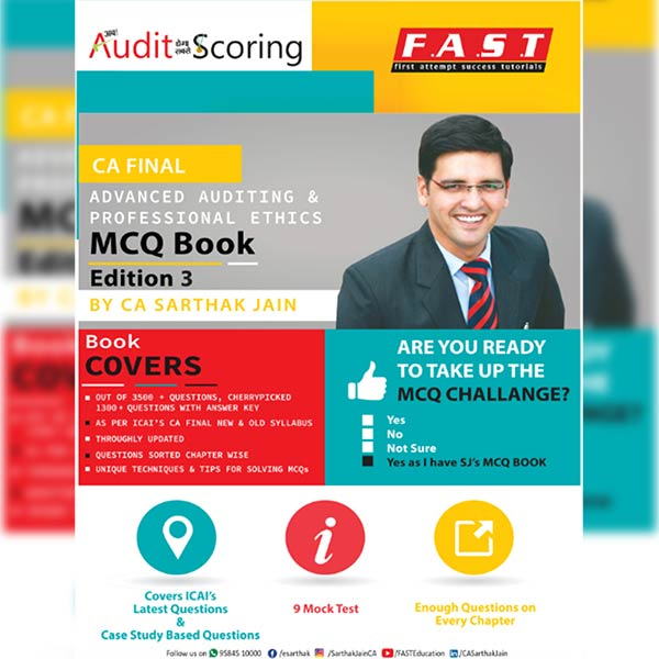 CA Final Advanced Auditing MCQ Book With Answer Keys By CA Sarthak Jain