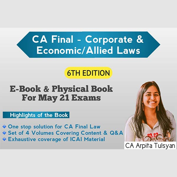 CA Final Law Book – 6th Edition (New/Old Course) By CA Arpita Tulsyan