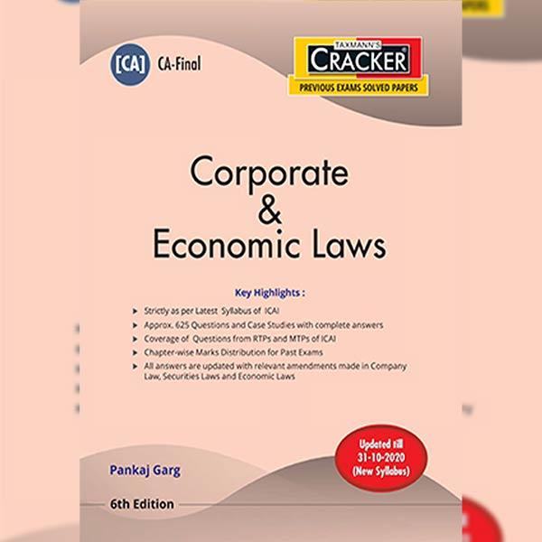 CA Final Corporate & Economic Laws Cracker Book By CA Pankaj Garg