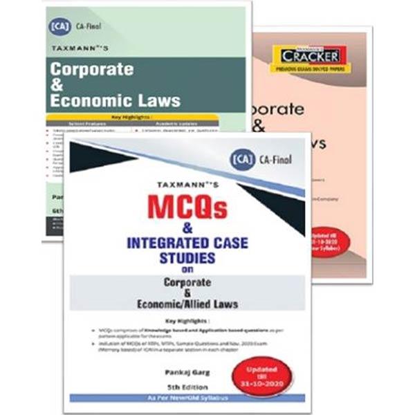 CA Final Corporate & Economic Laws (Cracker, Main Book & MCQ) By CA Pankaj Garg