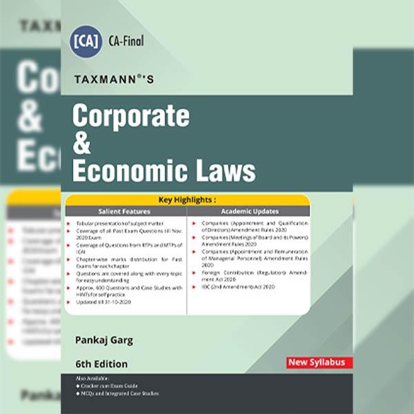 CA Final Corporate & Economic Laws Main Book By CA Pankaj Garg