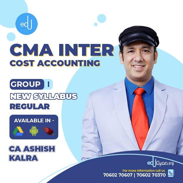 CMA Inter Cost Accounting By CA Ashish Kalra