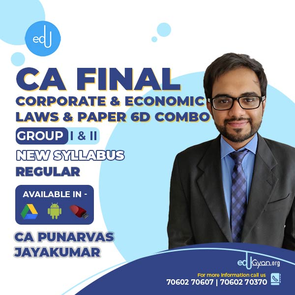 CA Final Corporate & Economic Laws & Paper 6D Elective By CA Punarvas (English)