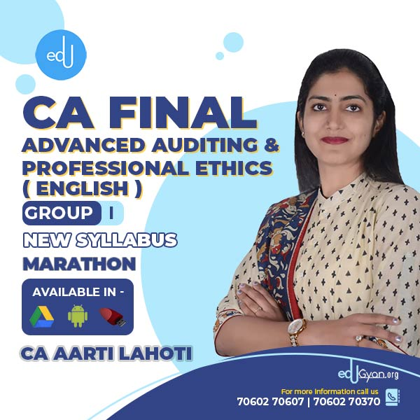 CA Final Advanced Auditing Marathon Batch By CA Aarti Lahoti (English)