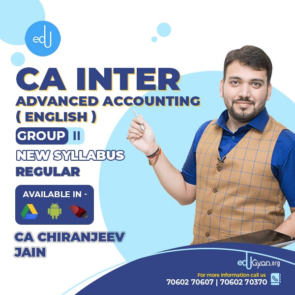 CA Inter Advanced Accounting By CA Chiranjeev Jain