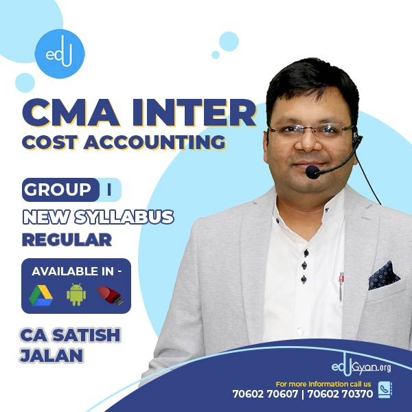 CMA Inter Cost Accounting By CA Satish Jalan