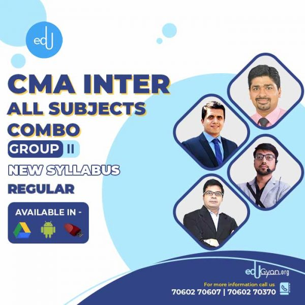 CMA Inter Group- II All Subjects Combo By Concept Online Classes