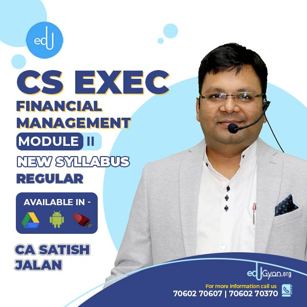 CS Executive Financial Management By CA Satish Jalan