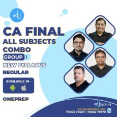 CA Final Group-I All Subjects Combo By One Prep