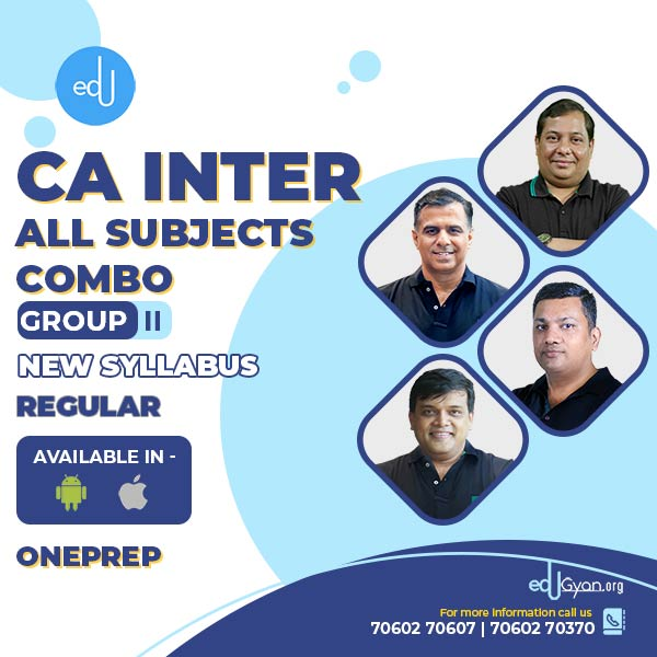 CA Inter Group-II All Subjects Combo By One Prep