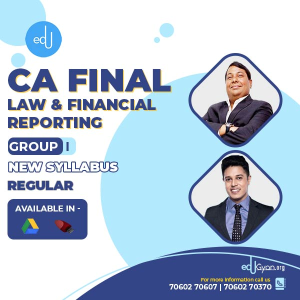 CA Final Law & FR Combo By Swapnil Patni Classes