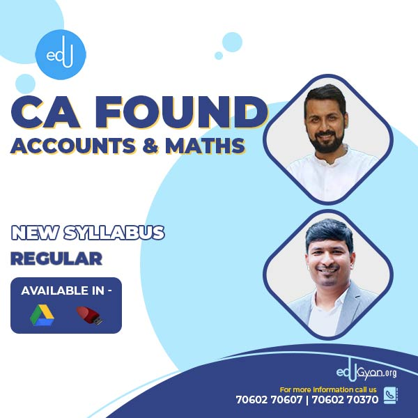 CA Foundation Accounts & Maths Combo By Swapnil Patni Classes
