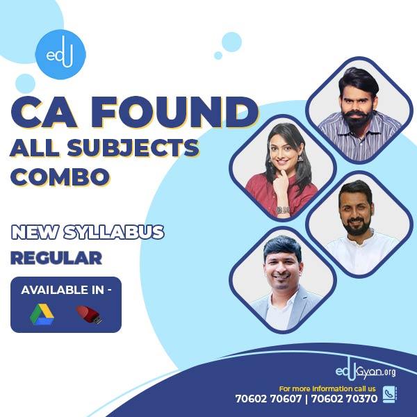 CA Foundation All Subjects Combo By Swapnil Patni Classes