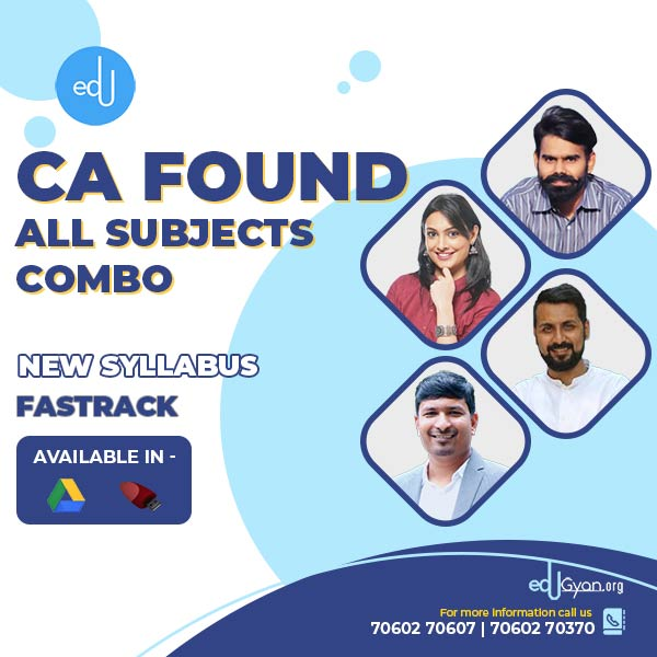 CA Foundation All Subjects Fast Track Combo By Swapnil Patni Classes