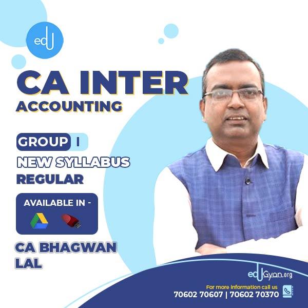 CA Inter Accounting By CA Bhagwan Lal