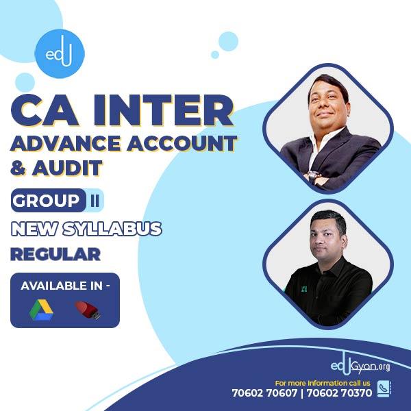 CA Inter Advance Account & Audit Combo by CA Parveen Jindal & CA Pankaj Gupta (Group II)