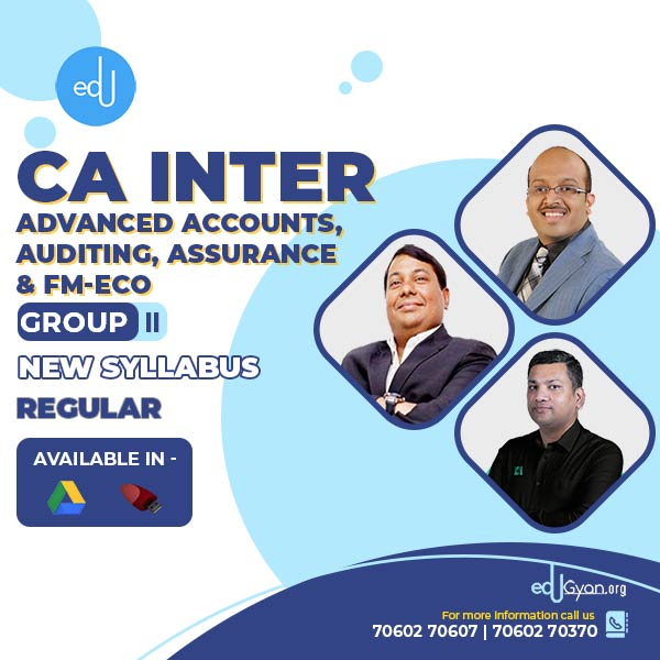 CA Inter Advanced Accounts & Auditing & Assurance & FM-ECO Combo by CA Bhanwar Borana (Group II)