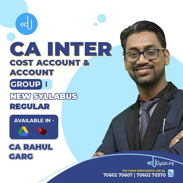 CA Inter Cost Account & Accounting Combo by CA Rahul Garg
