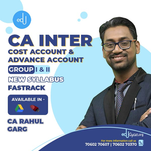CA Inter Cost Account & Advance Account Fast Track Combo by CA Rahul Garg