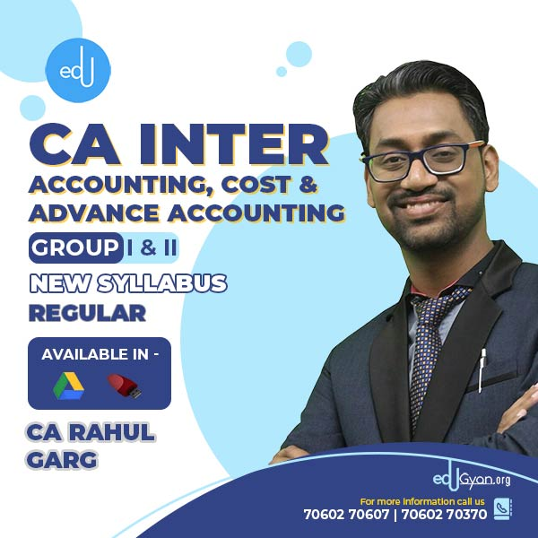 CA Inter Cost & Advance Accounting & Accounting Combo by CA Rahul Garg