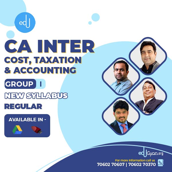 CA Inter Cost & Taxation & Accounting Combo by CA Bhanwar Borana (Group I)