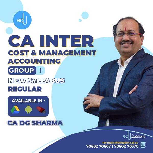 CA Inter Cost _ Management Accounting By CA DG Sharma