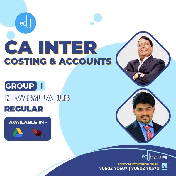 CA Inter Costing & Accounts Combo By CA Parveen Jindal & CA Sankalp Kanstiya (Group I)