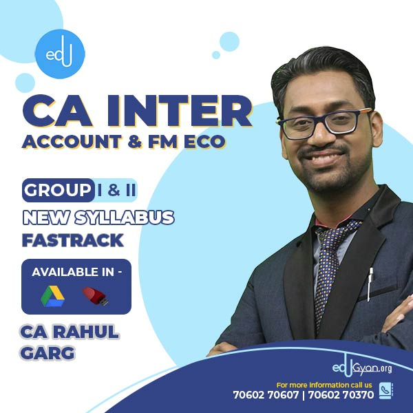 CA Inter FM Eco & Account Fast Track Combo by CA Rahul Garg
