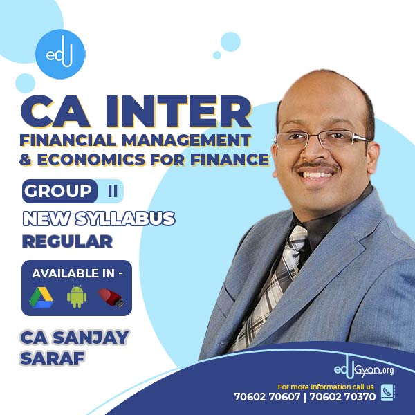 CA Inter FM-Eco Regular Batch By Prof Sanjay Saraf