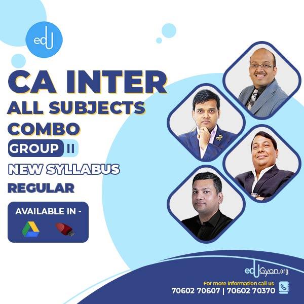 CA Inter Group 2 – Combo By CA Parveen Jindal & CFA Sanjay Saraf & CA Pankaj Garg & CA Amit Tated