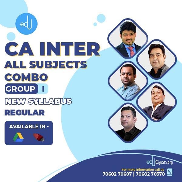 CA Inter Group I – Combo By CA Parveen Jindal, CA Bhanwar Borana, CA Pankaj Garg, CA Sankalp Kanstiya, CA Rajkumar