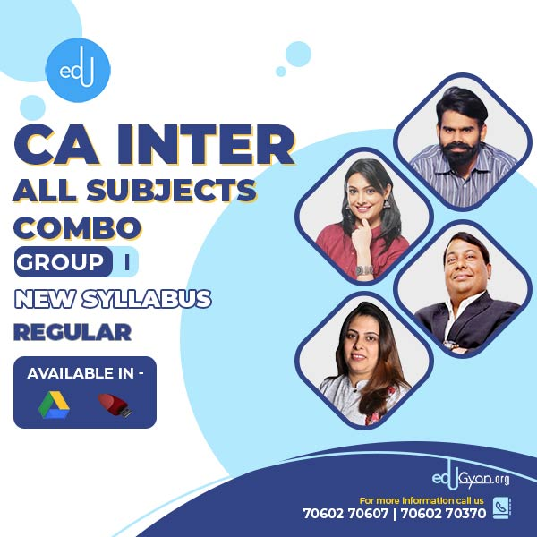 CA Inter Group- I Combo By Swapnil Patni Classes