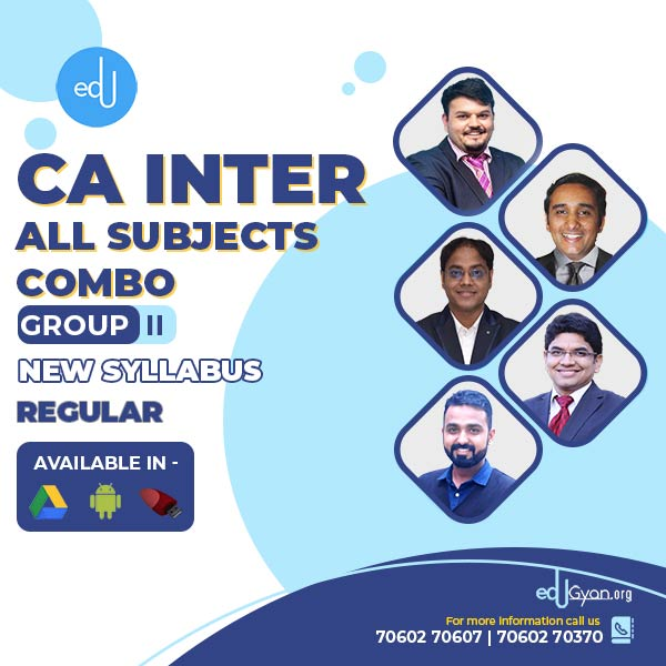 CA Inter Group- II Combo By V Smart Academy