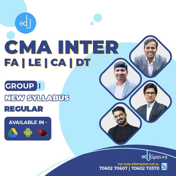 CMA Inter Combo Group I- (FA + LE + CA + DT ) By Inspire Academy