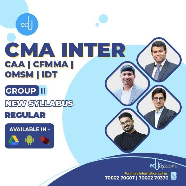 CMA Inter Combo Group II- (CAA + CFMMA + OMSM + IDT ) By Inspire Academy