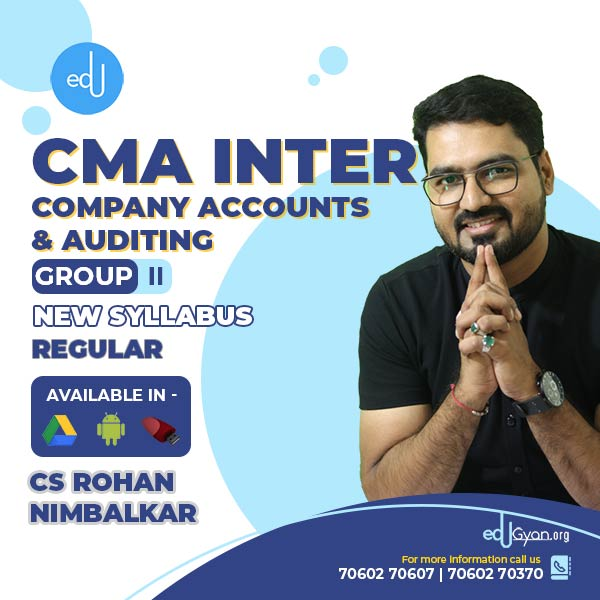 CMA Inter Company Accounts & Auditing By CMA CS Rohan Nimbalkar