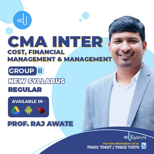 CMA Inter Cost And Financial Management And Management By CA Raj Awate